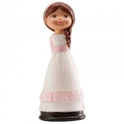 Figurine première communion fille - 16 cm