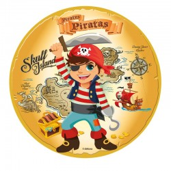 Disque en sucre - Pirate - 16cm