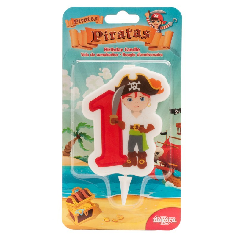 """Bougie """"Pirate N°1"""" - 7cm"""