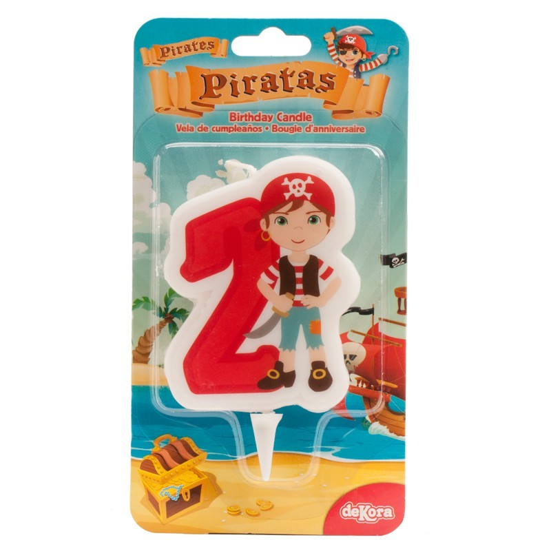 """Bougie """"Pirate N°2"""" - 7cm"""