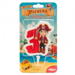 "Bougie ""Pirate N°3"" - 7cm"