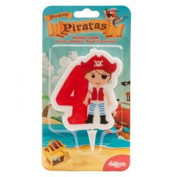 "Bougie ""Pirate N°4"" - 7cm"
