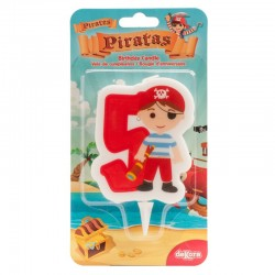 "Bougie ""Pirate N°5"" - 7cm"