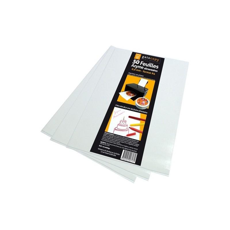 "GatoDeco - Feuille d'azyme comestible format A4 ""0,6mm"" (297x210x0,6mm) - 50pcs"