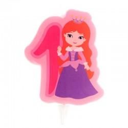 """Bougie """"Princesse N°1"""" - 7cm"""
