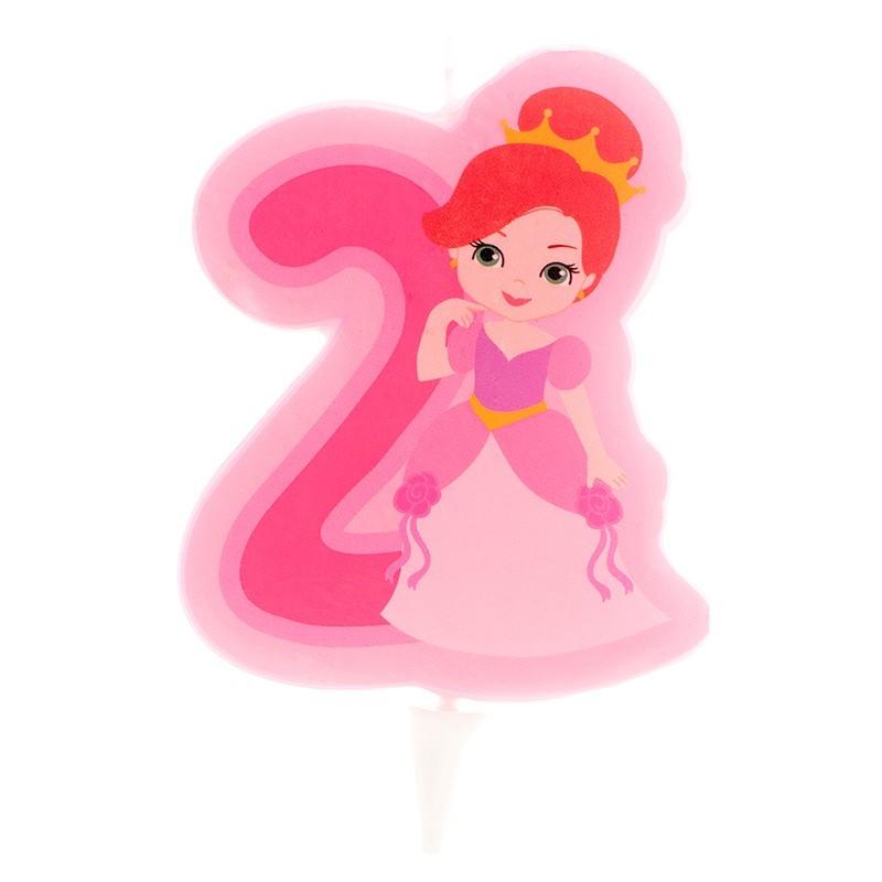 """Bougie """"Princesse N°2"""" - 7cm"""