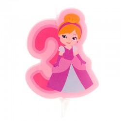 """Bougie """"Princesse N°3"""" - 7cm"""