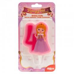 """Bougie """"Princesse N°4"""" - 7cm"""