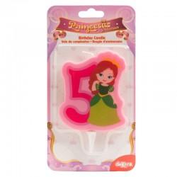 """Bougie """"Princesse N°5"""" - 7cm"""