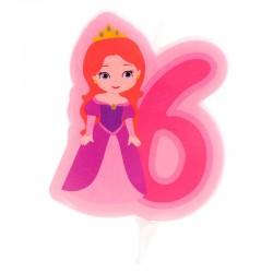 """Bougie """"Princesse N°6"""" - 7cm"""