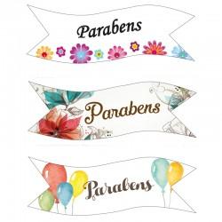 "Banderoles ""Parabens""  azyme - 3pcs"