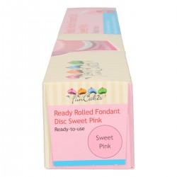 """- Pâte à sucre ronde déjà roulée """"Pink"""" Rose 36cm - 430gr"""