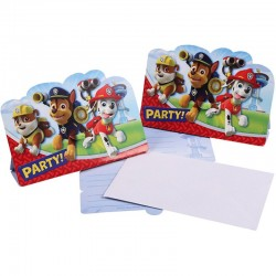 "Pat Patrouille ""Carte d'invitation"" - 8pcs"