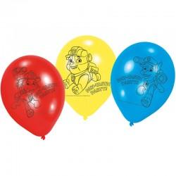 "Pat Patrouille ""Ballon"" - 6pcs"