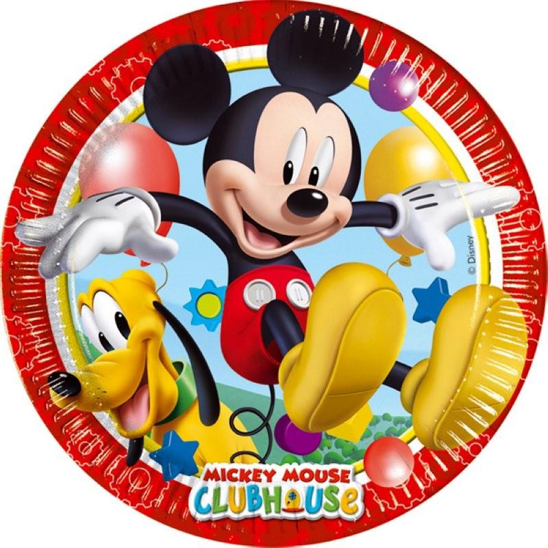 "Mickey ""assiettes"" - 8pcs - 23cm"