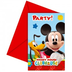 "Mickey Mouse ""Carte d'invitation"" - 6pcs"