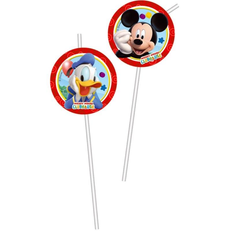 "Mickey Mouse ""Pailles"" - 8pcs"