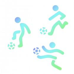 """Pochoirs """"footballeurs"""" - 3pcs"""