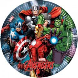 """""""assiettes"""" Avengers - 8pcs - 23cm"""