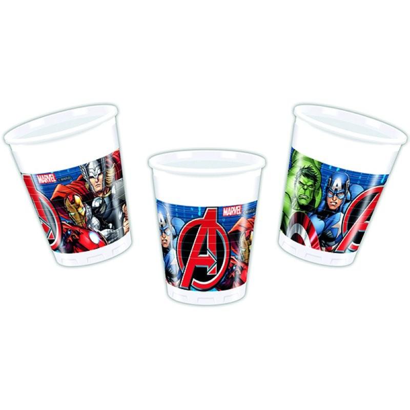 """gobelets"" Avengers - 8pcs - 200ml"