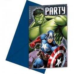 """Cartes d'invitation"" Avengers - 6pcs"