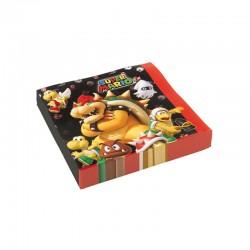"""""""Serviette"""" Super Mario - 20pcs - 33cm"""