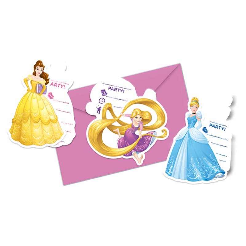 Princess Birthday Invitations Card 6pcs Chf690