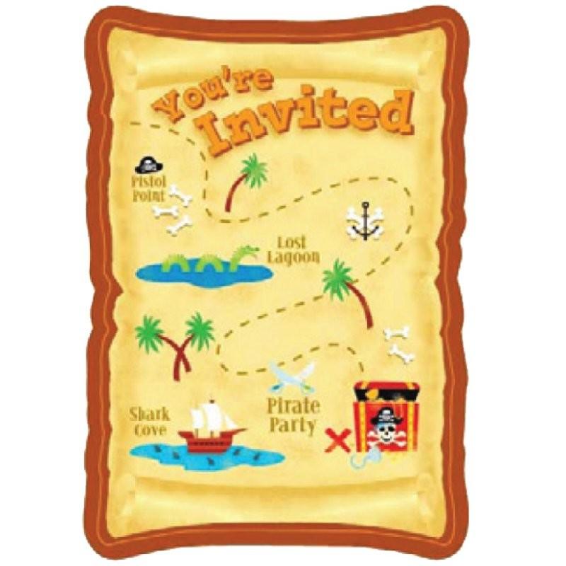 """Pirate """"Carte d'invitation"""" - 8pcs"""