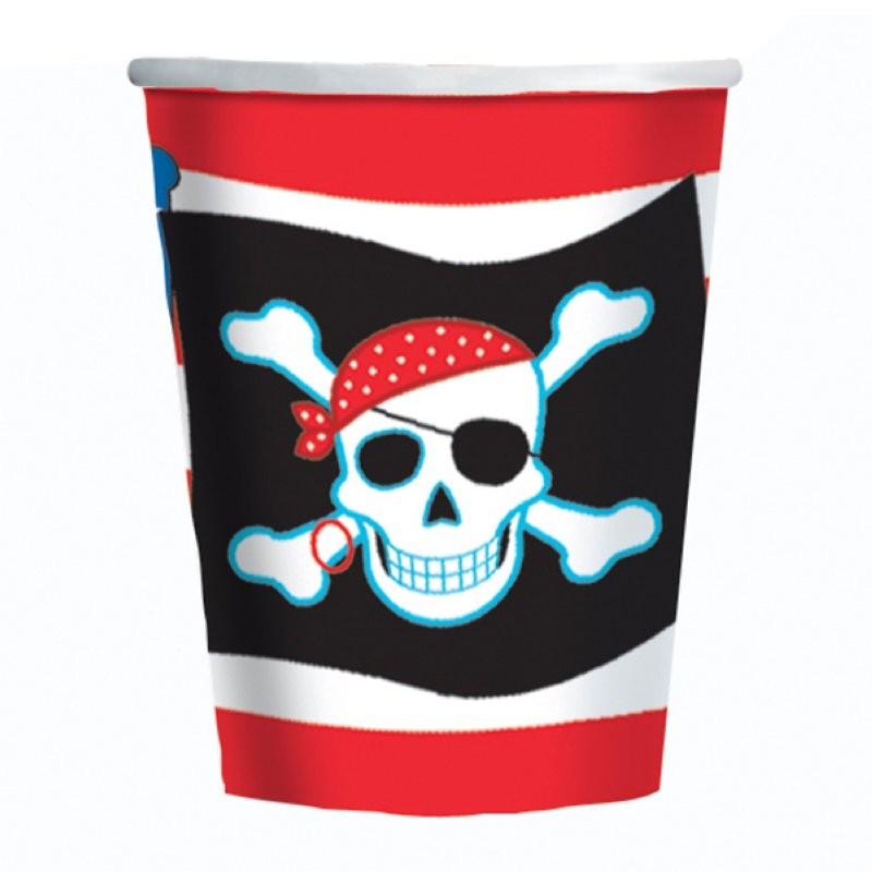 """Pirate """"gobelets"""" - 8pcs - 270ml"""