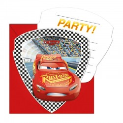 "-Flash Mc Queen ""Carte d'invitation"" - 6pcs"