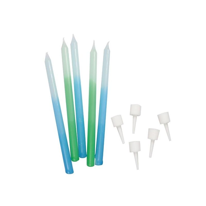 Bougie Bleu-Vert - 12pc
