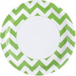 """Assiettes colorées """"vert"""" - 8pcs"""
