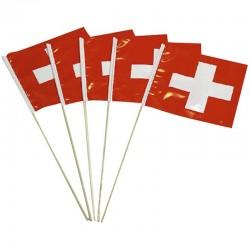 Drapeau Suisse 20x20cm - 5pcs
