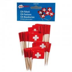Cure-dents avec drapeau Suisse - 30pcs