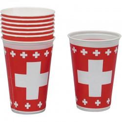 """Gobelets colorés """"Suisse"""" - 8pcs"""