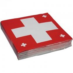 """Serviettes colorés """"Suisse"""" - 20pcs"""