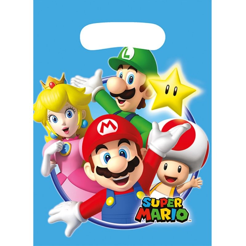"""Super Mario """"Sachets party"""" - 8pcs"""