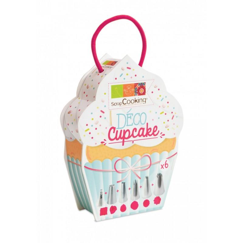 """Boîte """"Déco cupcakes"""" - 6 douilles"""