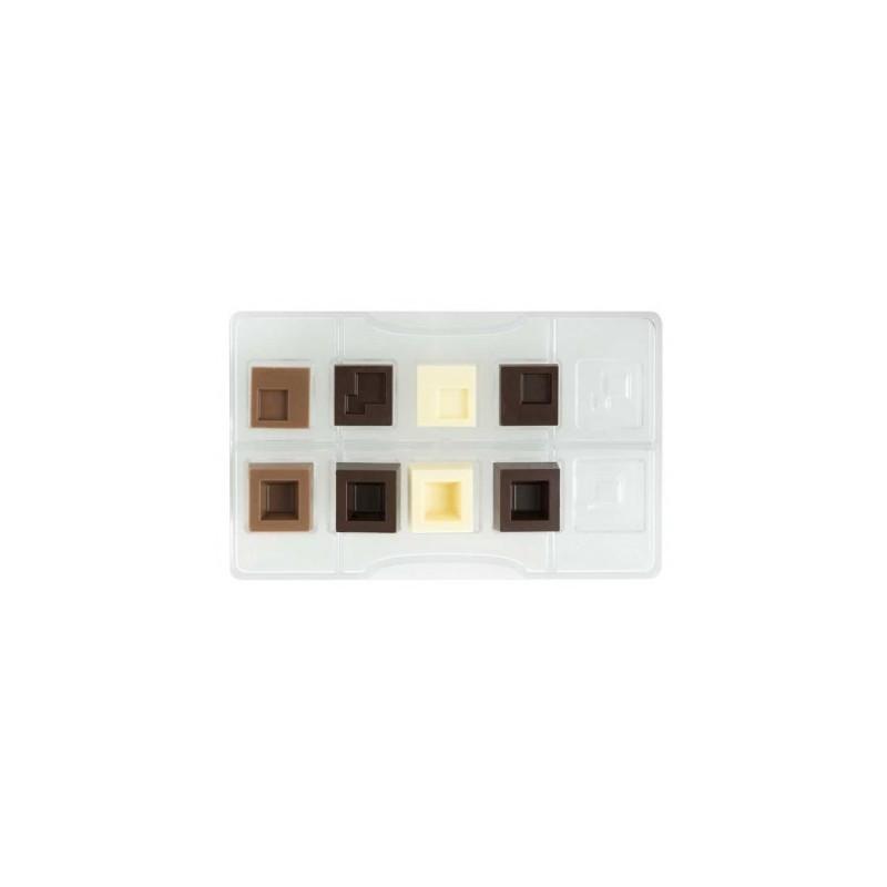 """Moule à chocolats """"Carrés modulaires"""""""
