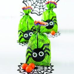 Sac à biscuit - Halloween, sachet fête halloween, sacs à biscuits avec areignées