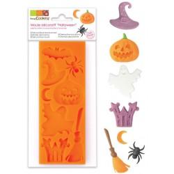 Moule silicone Hallowwen, moule chapeau,citroulle,fantôme, halloween, moule pour pâte à sucre Halloween