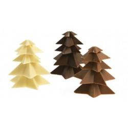 Moule à chocolat Etoiles - sapins, moule en forme d'étoile, moule en forme de sapin, moule chocolat, moule sapin, moule étoiles,
