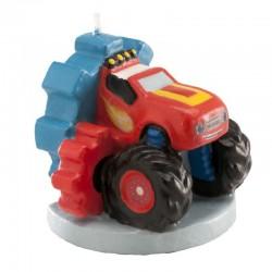 Bougie Monster truck, bougie 3 D voiture, bougies garçon 3 D, bougies anniversaire garçon