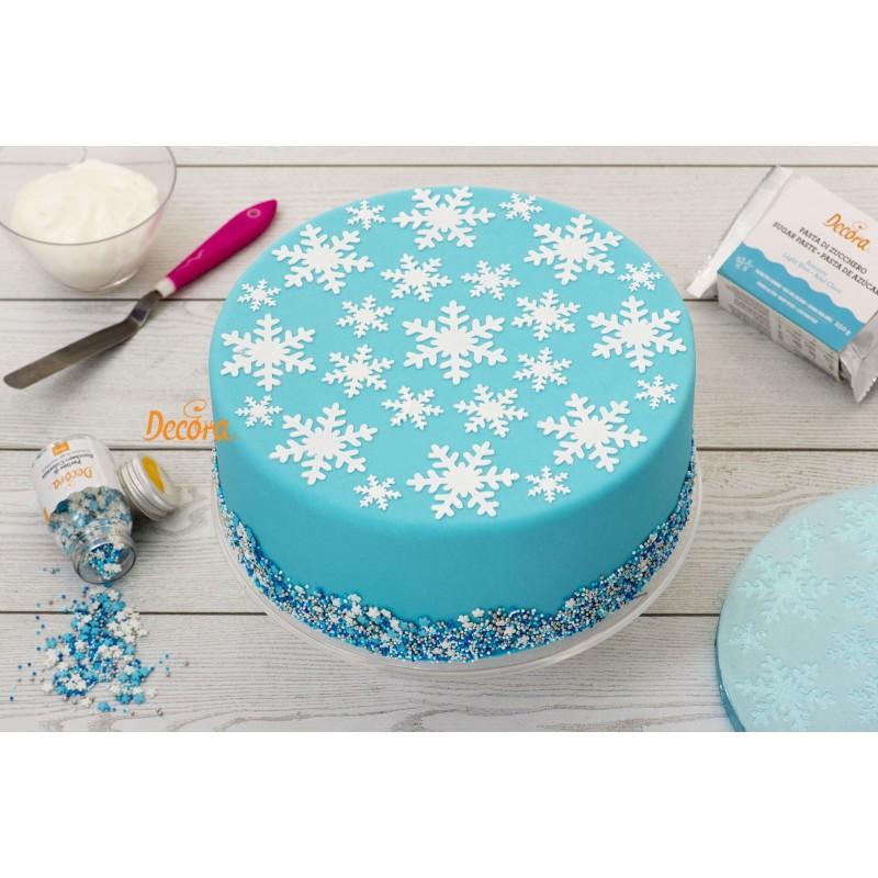 pochoir décos noël, pochoir flocon, décos flocon de neige, pochoir flocon reine des neiges, pochoir pour gâteau