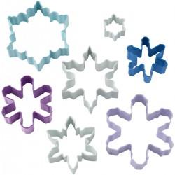 emporte-pièce étoiles, emporte-pièces hiver, emporte-pièces bleu étoiles, emporte-pièces pâte à sucre étoiles, emporte-pièces bi