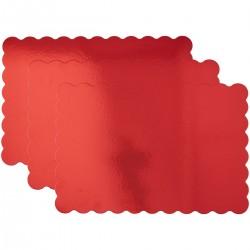 plateau rectangulaire rouge, plateau à gateau rouge, grand plateau rouge, grand plateau rectangulaire pour gâteau, planches à gâ