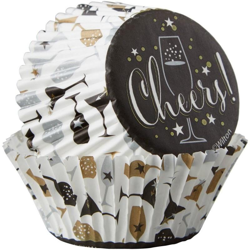 Caissettes noires et blanches, caissettes pour les fêtes, caissettes champagne, grandes caissettes noires et blanches, grandes c