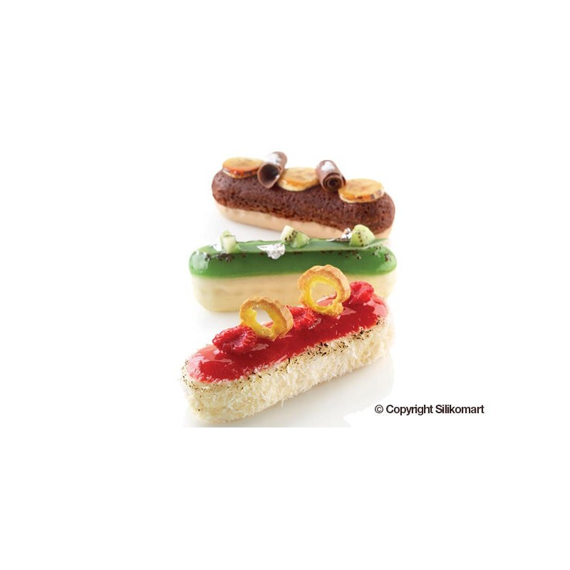 moule silicone, insert  silicone, moule forme éclair, insert forme éclair, mini moule à éclairs, moule à éclairs, moule baguette