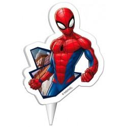 bougie enfant, bougie spiderman, bougie spiderman 2D, bougie super héro, bougie homme areignée