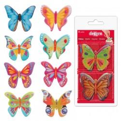 papillons décoratif coméstible,papillon décoration, papillon pour gâteau, papillons azyme, papillon mangeable, set papillons com